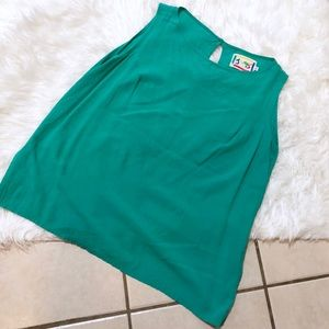 Jam's World Bright Jade Sleeveless Top Size Large